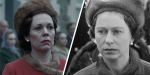 The Crown series 3, Netflix drama scenes, real life photos