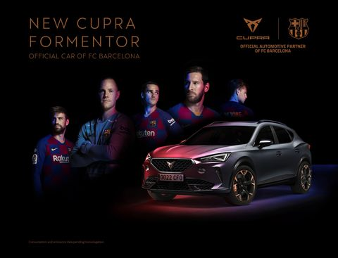 cupra formentor coche oficial del fc barcelona