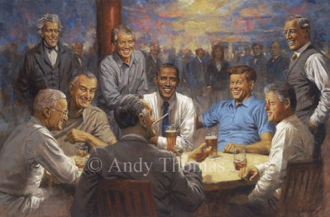 The Republican Presidents Painting In The White House By