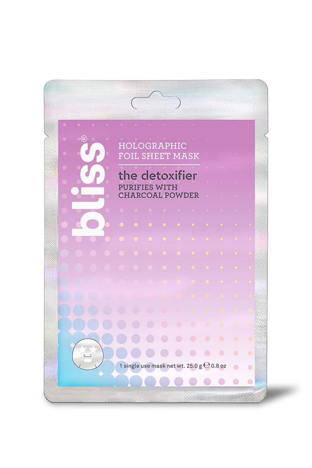 Bliss Hangover Fix Holographic Foil Sheet Mask Bliss Hangover Fix Holographic Foil Sheet Mask, $4 SHOP IT Had one too many martinis the night before? It's all good—the electrolytes and probiotics packed in this foil mask will breathe life back into your puffy, dehydrated skin.