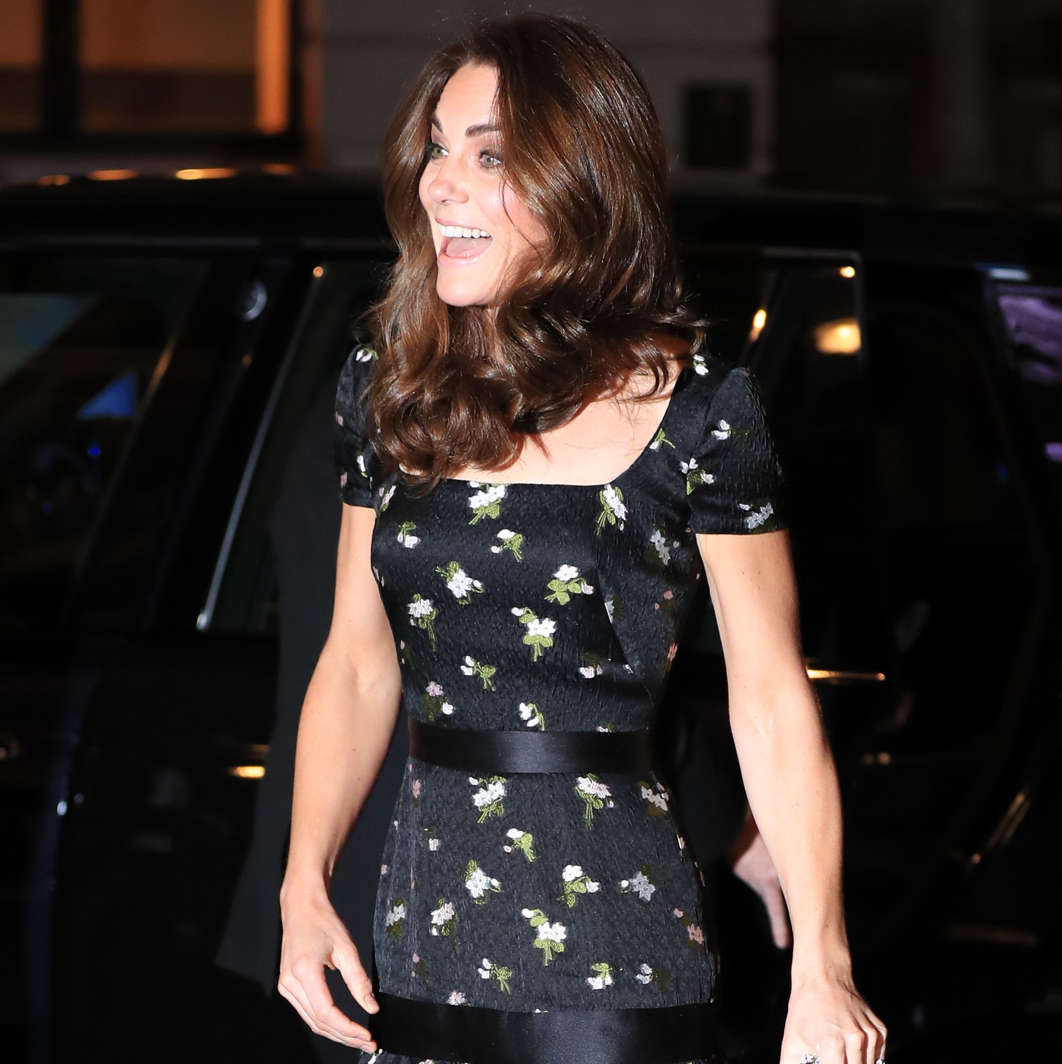 Kate Middleton Wears a Floral Alexander McQueen Gown at to the National Portrait Gallery Gala
