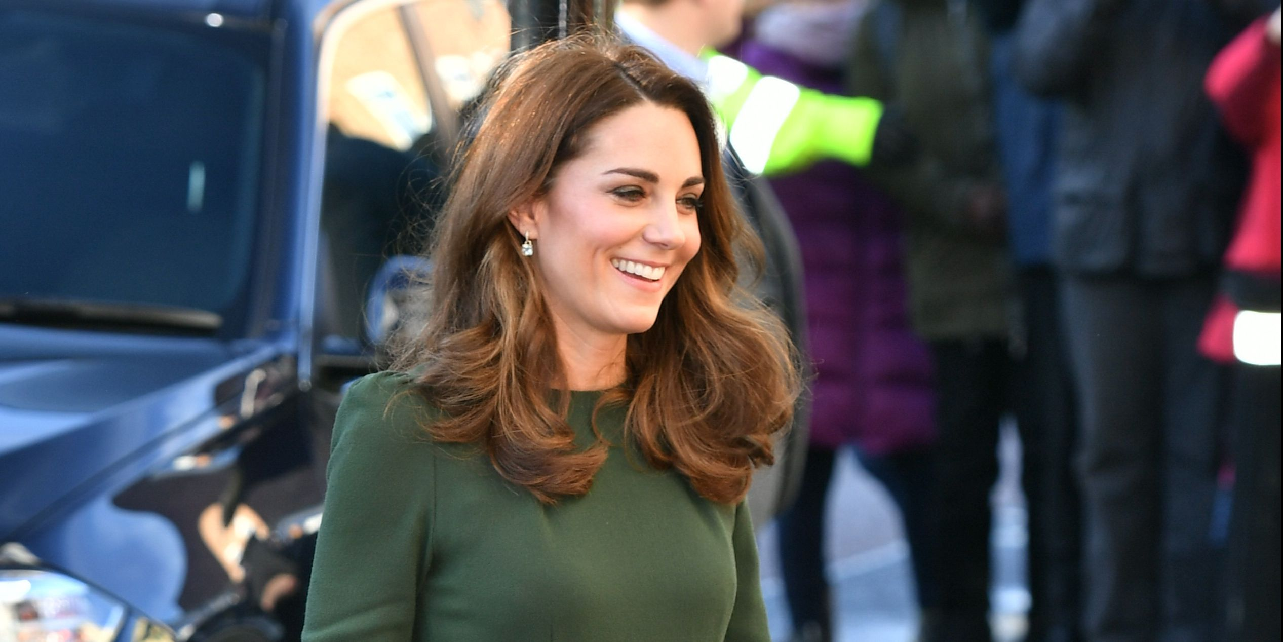 Kate Middleton Steps Out in a Belted Green Beulah Dress to Visit Family Action Lewisham
