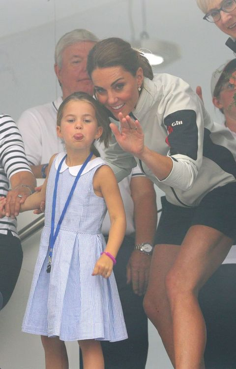 Princess Charlotte Stuck Out Her Tongue at Fans and Kate Middleton's Reaction Was Gold