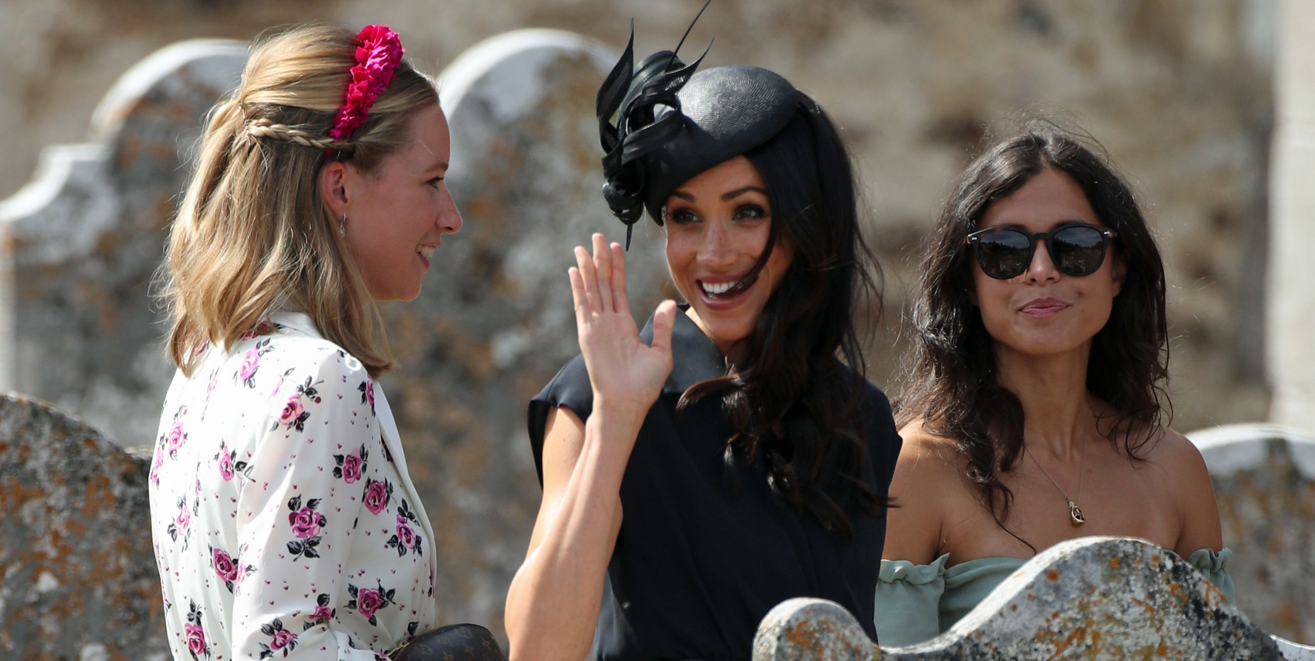 Meghan Markle at Charlie van Straubenzee and Daisy Jenks wedding