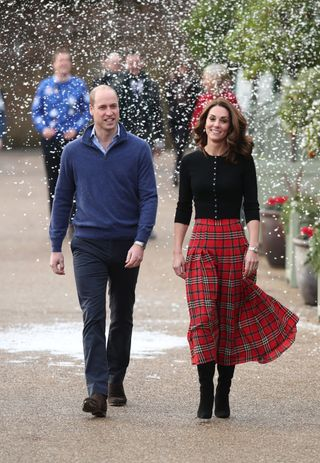 Duke and Duchess of Cambridge host Christmas party for RAF families
