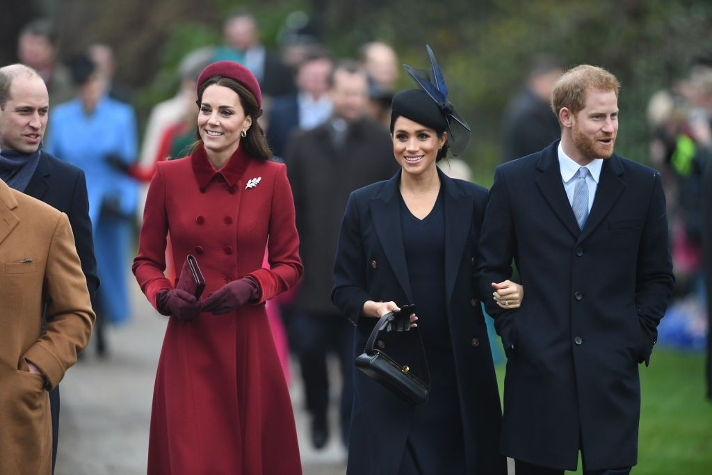 Meghan Markle Wears Navy for Christmas Service Alongside Kate Middleton and  the Royal Family 951fa52f51db