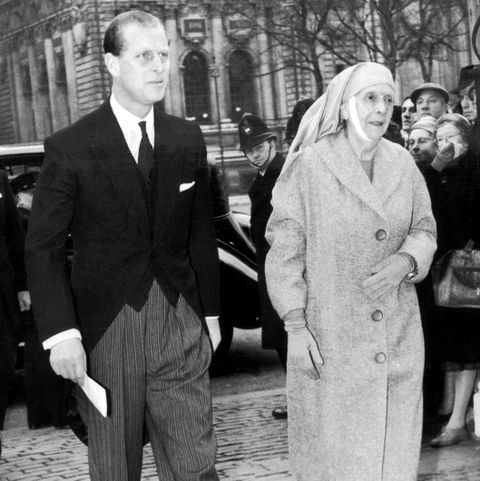 The Duke Of Edinburgh And His Mother In 1960