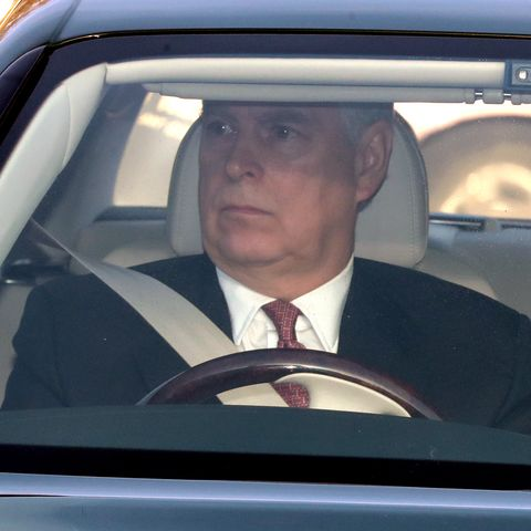 Prince Andrew's arrival at the Queen's Christmas lunch 2019
