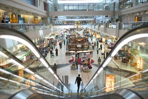The Duty Free area at Dubai International Airport, Dubai, UAE.