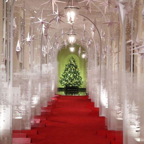 East Colonnade White House Christmas 2020 Melania Trump Unveils The White House Christmas Decorations   2019
