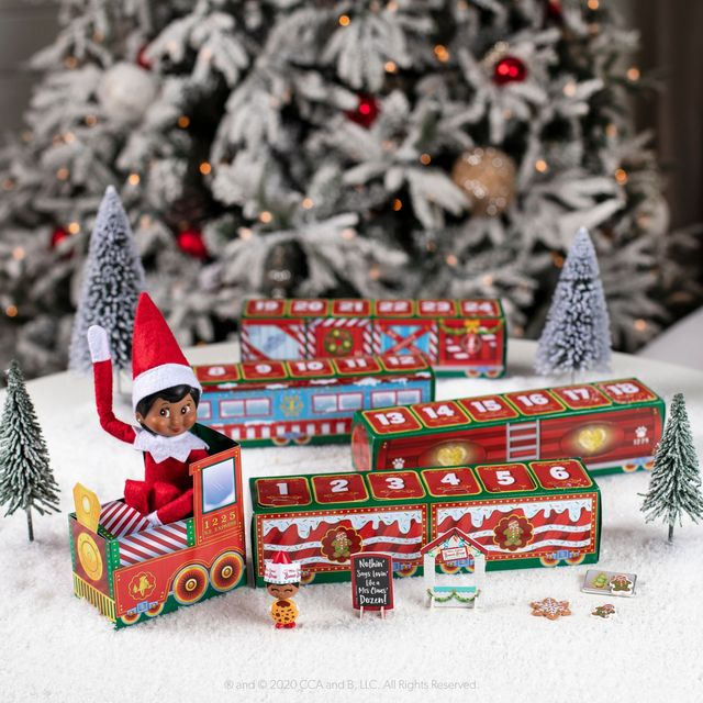 the elf on the shelf advent train
