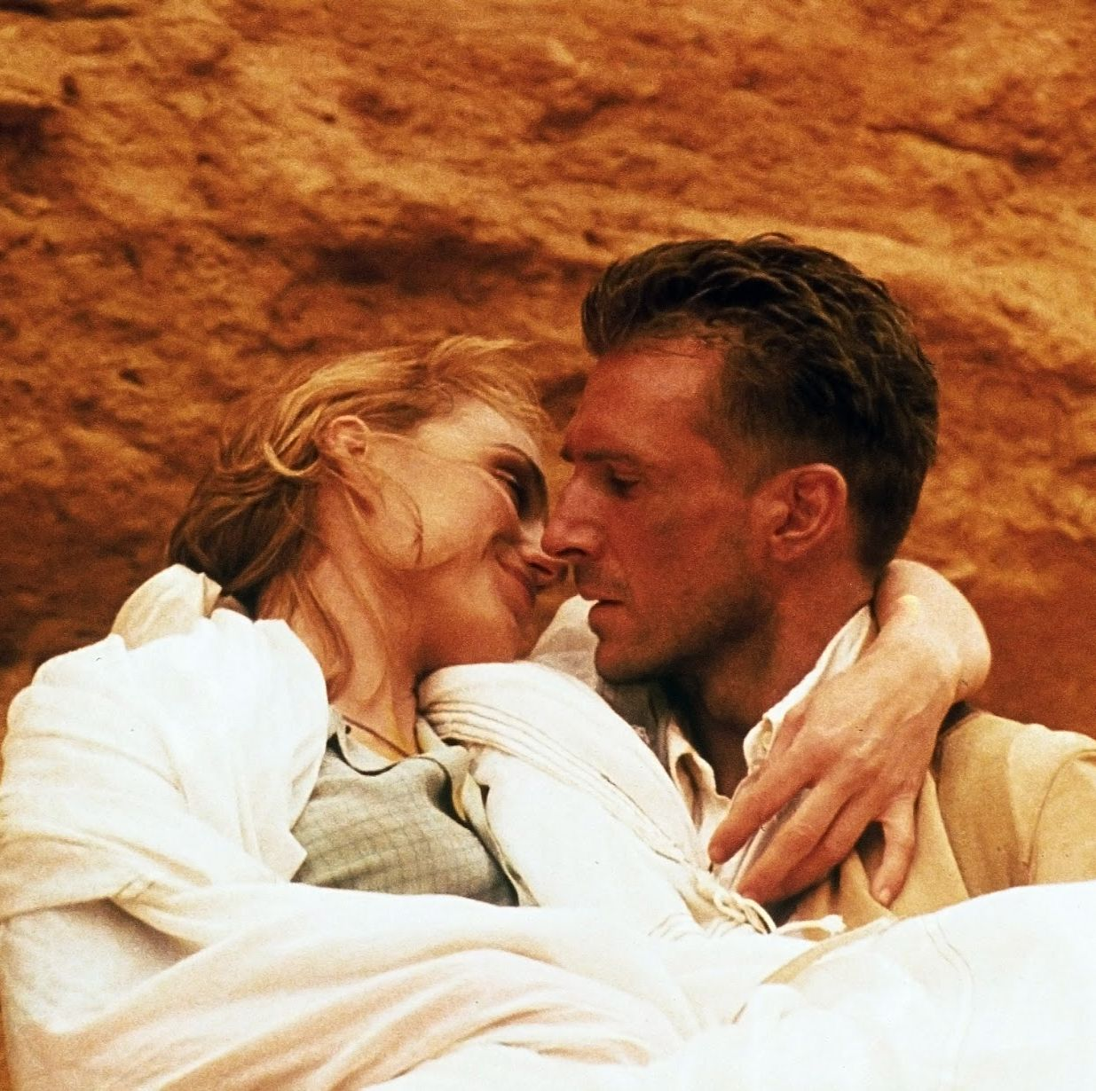 The English Patient The Oscar-winning epic stars Ralph Fiennes as a dying man in the final days of World War II who recounts his torrid affair with a married British woman in the years leading up to the war.