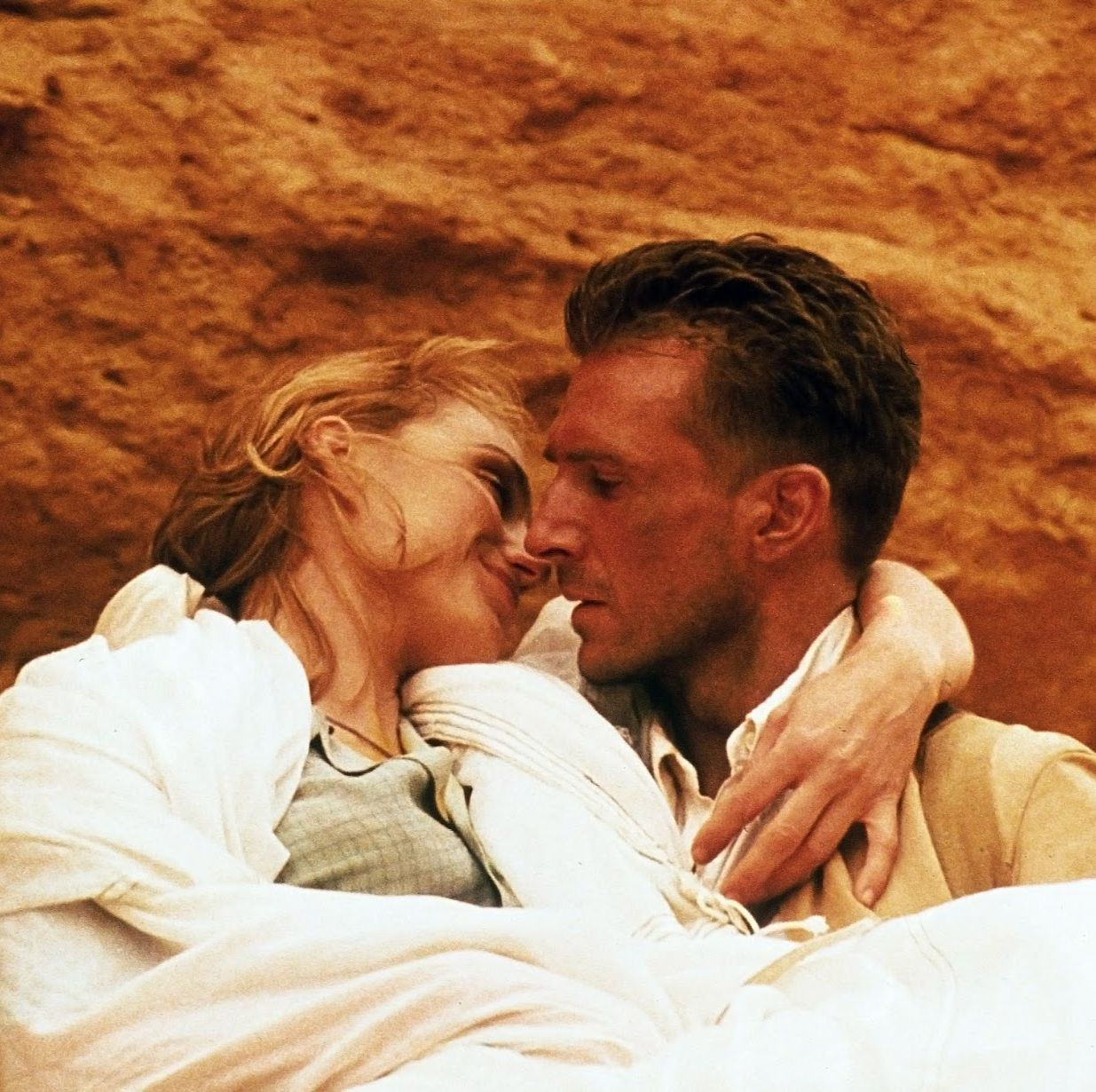 The English Patient The Oscar-winning romantic epic stars Ralph Fiennes as the titular character, a badly burned man who recounts the story of his forbidden love affair with a married woman during WWII.