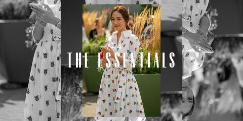 the essentials floral dress