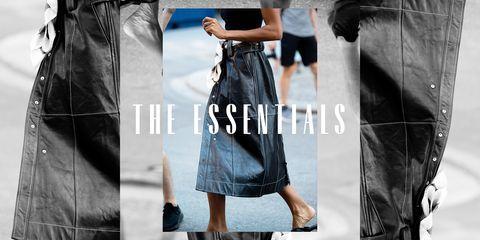 essentials leather skirt