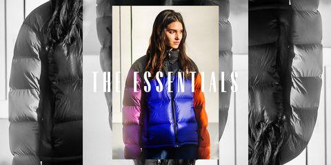 essentials puffer coats