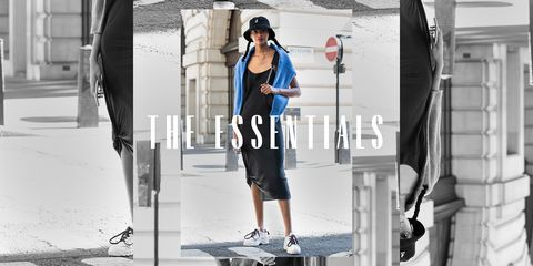 the essentials slip dress street style