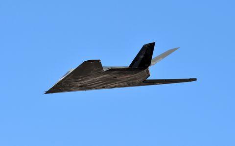 F-117 Nighthawk Stealth Fighter Flies In Death Valley, California