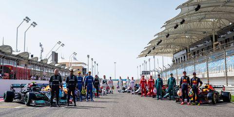 formula 1 testing in bahrain  day 1