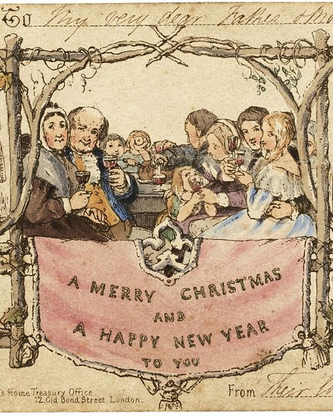 the first christmas card, 1843