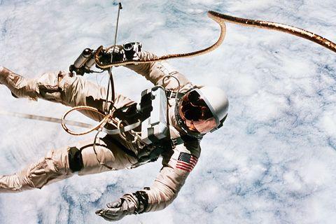 First Spacewalk by US Astronaut