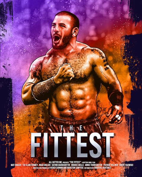 Poster, Movie, Album cover, Action film, Human, Wrestler, Professional wrestling, Muscle, Chest, Flesh,