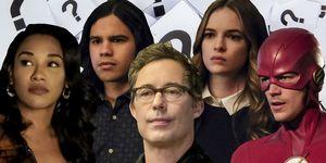 The Flash – Iris, Cisco, Harrison Wells, Caitlin, Flash
