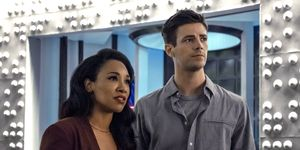 The Flash season 6 - Grant Gustin as Barry Allen and Candice Patton as Iris West