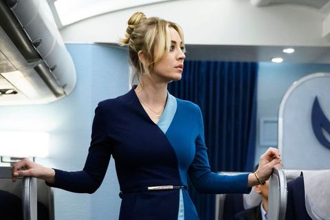 kaley couco en the flight attendant
