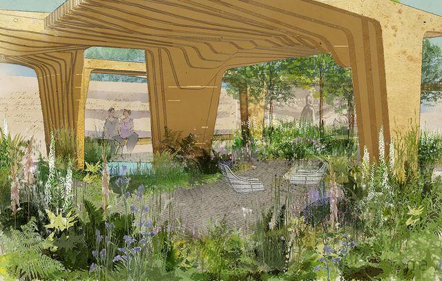 the florence nightingale garden  a celebration of modern day nursing, show garden, designed by robert myers, sponsored by the burdett trust for nursing, rhs chelsea flower show 2021