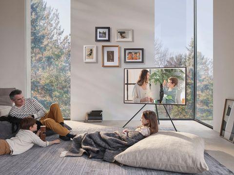 the frame, la tv ideal para un salón elegante