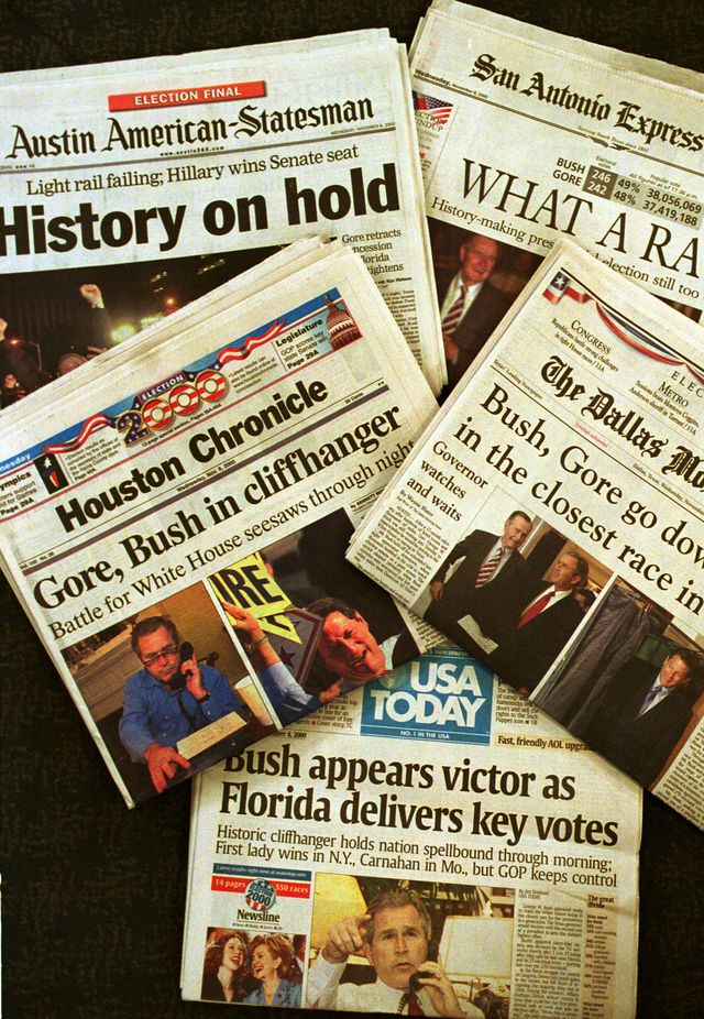texas newspapers report election results