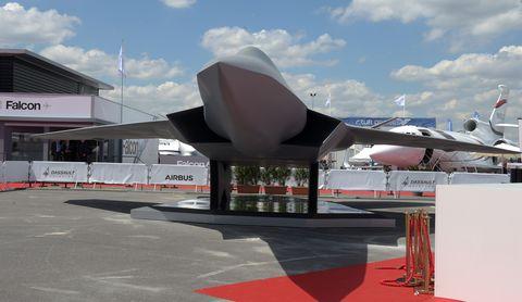 FRANCE-TRANSPORT-AVIATION-AIRSHOW-SCAF-FCAS-MODEL