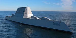 Largest U.S. Destroyer Out For Trials
