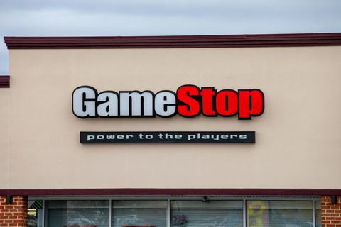 the gamestop sign seen at the silvermoon plaza an online