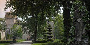 The gardens of Grazzano Visconti Castle, Vigolzone