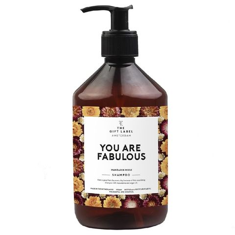 the gift label you are fabulous shampoo