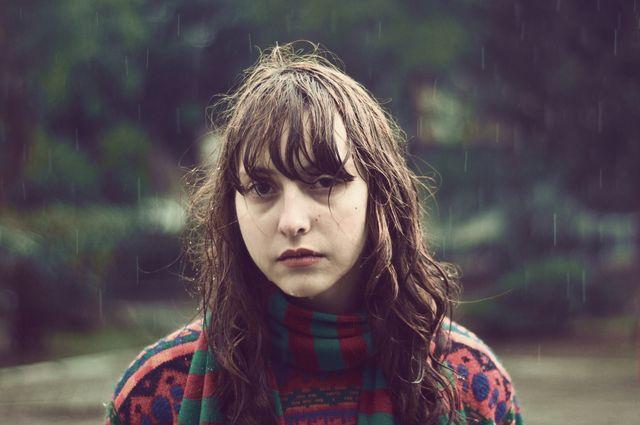 the girl under the rain