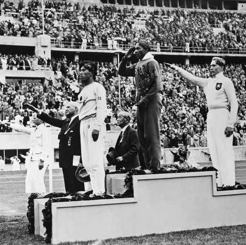 1936 olympic long jump medals ceremony