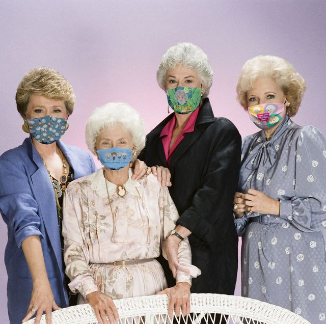 the golden girls    season 2    pictured l r rue mcclanahan as blanche devereux, estelle getty as sophia petrillo, bea arthur as dorothy petrillo zbornak, betty white as rose nylund   photo by gary nullnbcu photo bank