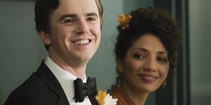 the good doctor - shaun (freddie highmore) and carly (jasika nicole)