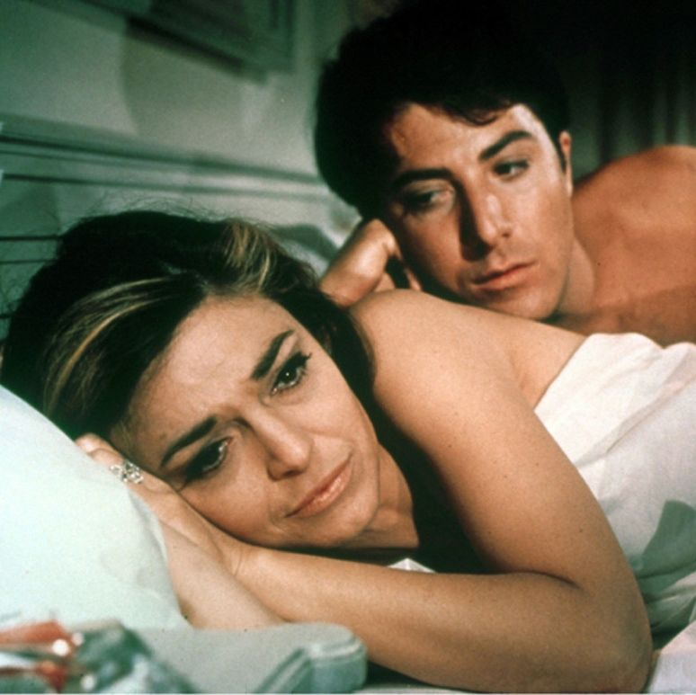 The Graduate Dustin Hoffman plays Benjamin Braddock, a listless college grad adjusting to the real world—a world that is shaken when he begins an illicit affair with Mrs. Robinson (Anne Bancroft), the wife of his father's colleague.