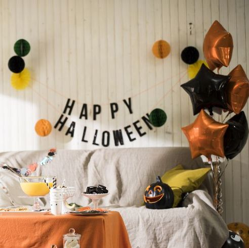 the halloween party is ready