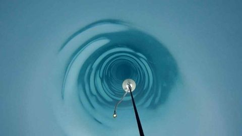 Water, Blue, Turquoise, Sky, Liquid, Macro photography, Circle,