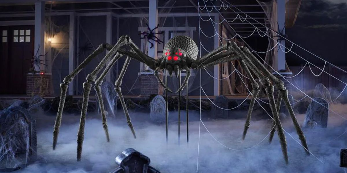 You Can Get a Truly Massive Spider Decoration With Glowing Red Eyes for Halloween