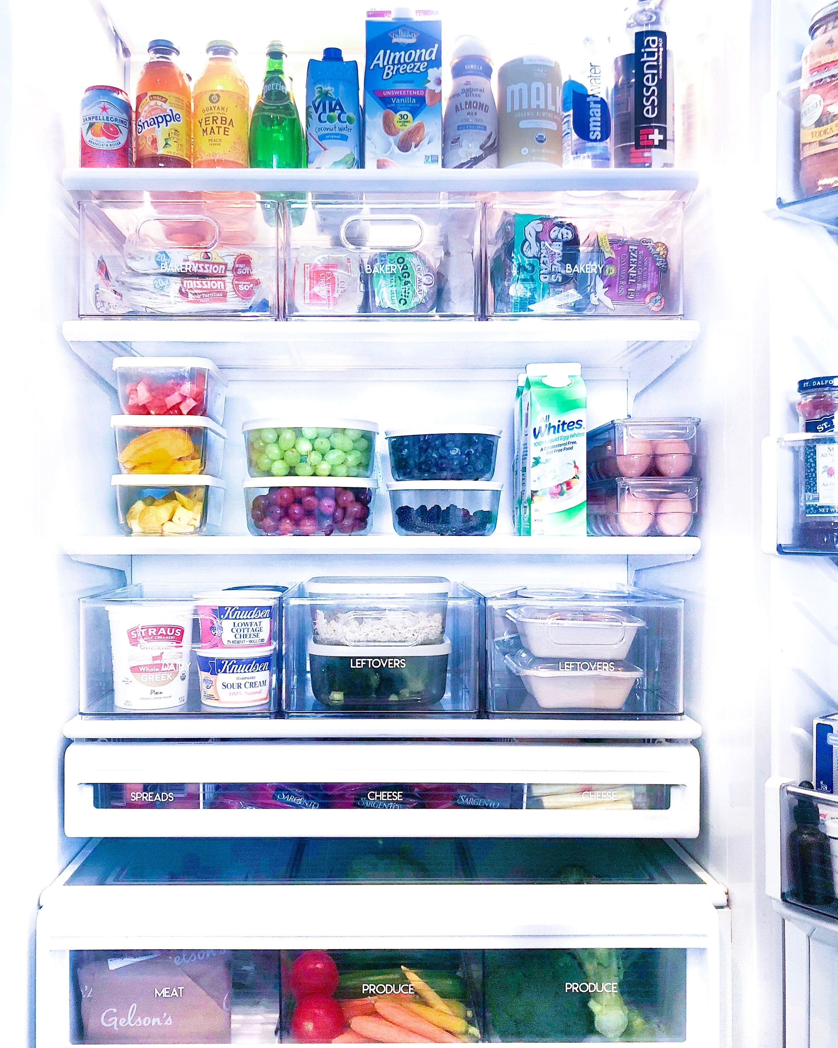 The Home Edit S Top Tips For Cleaning Up Your Refrigerator
