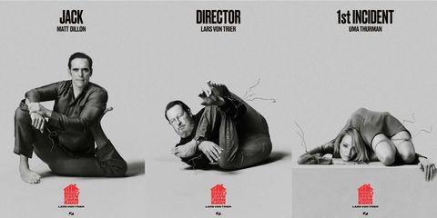 Matt Dillon, Lars Von Trier y Uma Thurman en los nuevos poster de 'The House That Jack Built'