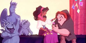 June 1996 From The Film Hunchback Of Notre Dam The Gysy Called Esmeralda Gives Quasimodo A Hand