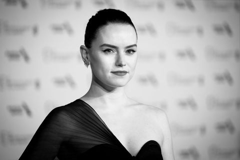 london, england   february 02 editors note image has been converted to black and white  daisy ridley attends the ee british academy film awards 2020 after party at the grosvenor house hotel on february 02, 2020 in london, england photo by tristan fewingsgetty images