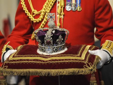 the imperial state crown, due to be worn